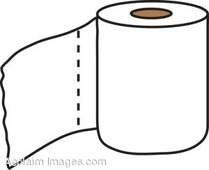 Clip Art Of A Roll Of White T
