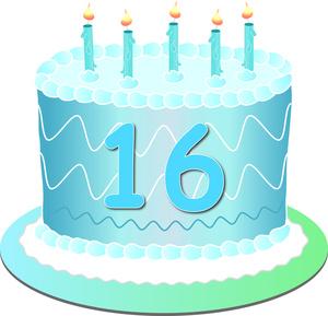 16 Birthday Clipart - Sweet 16 Clipart