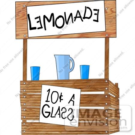 #17487 Wooden Lemonade Stand Clipart by DJArt
