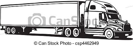 18 Wheeler Side View Clipart. Truck. Truck. Truck - csp4462949