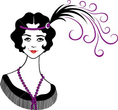 1920 Clip Art Borders | Clipart » Girl Thing » 1920u0026#39;s Flapper
