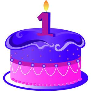 1st Birthday Cake Clip Art