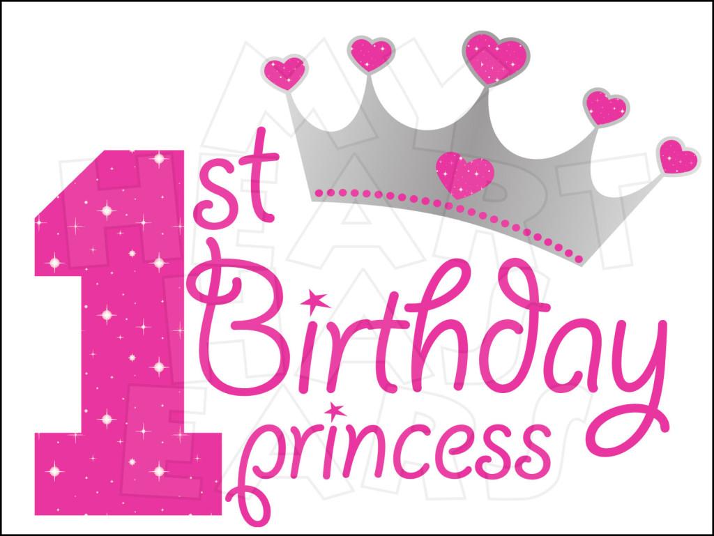 1st Birthday Clipart 1st Birthday Princess Instant
