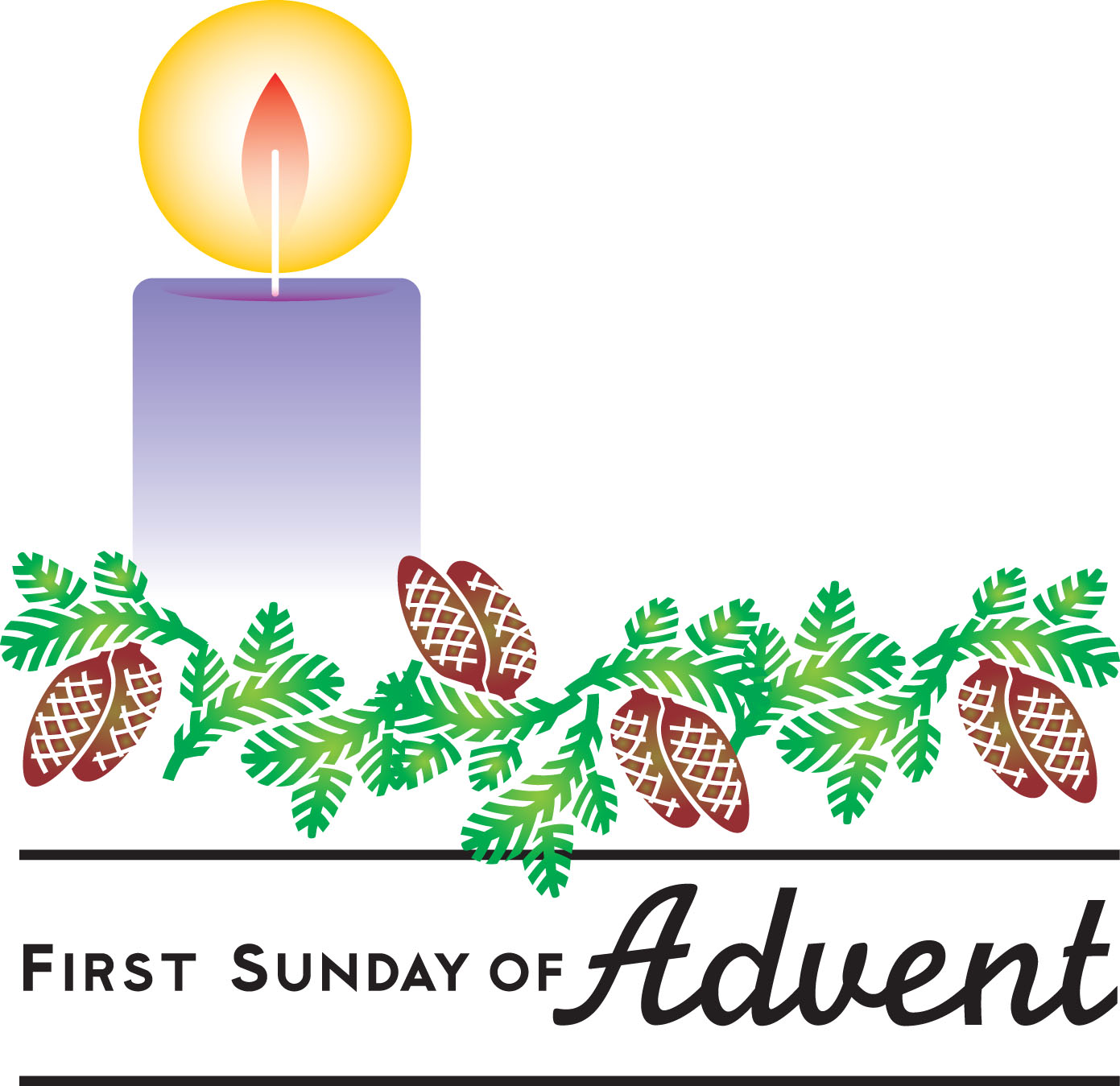 1st Sunday In Advent Clipart # .