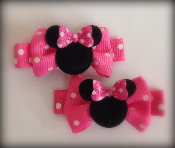 2 Boutique Girl Hair Clips Minnie Mouse Dots Hot by dylivingston, $3.49