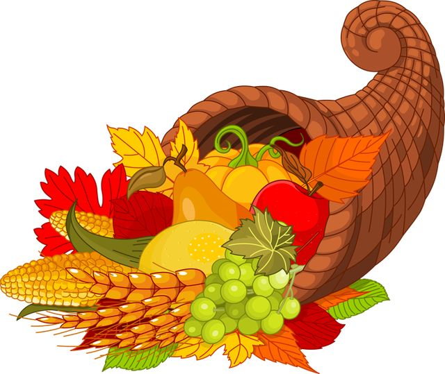 2013 Thanksgiving Clip Art: Harvest Cornucopia