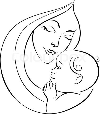 Mother And Baby Clipart