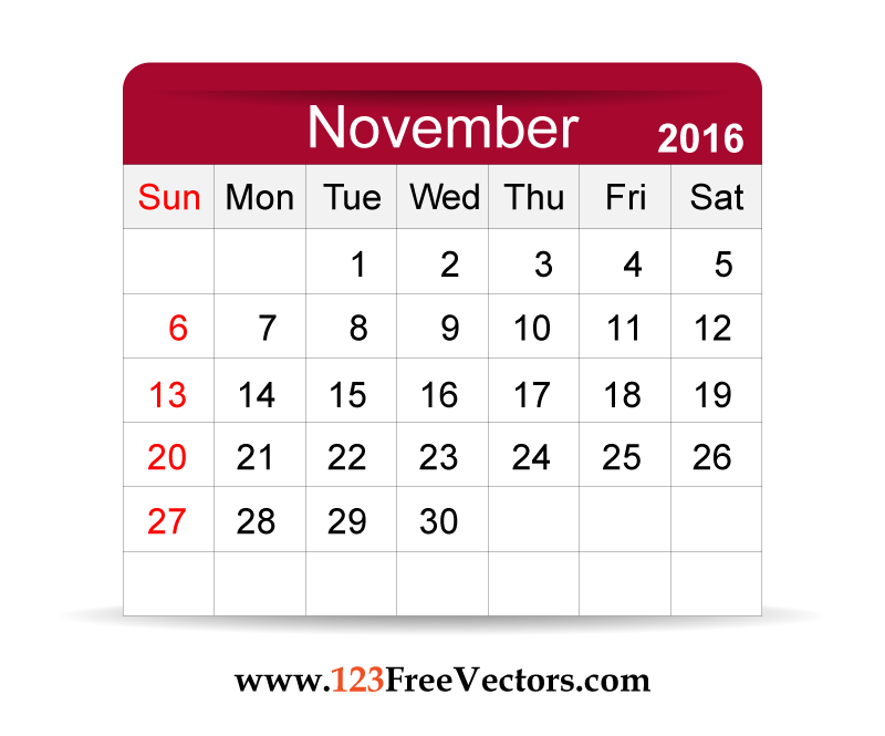 2016 Calendar November | .