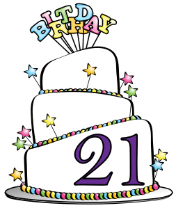 21st Birthday Clip Art