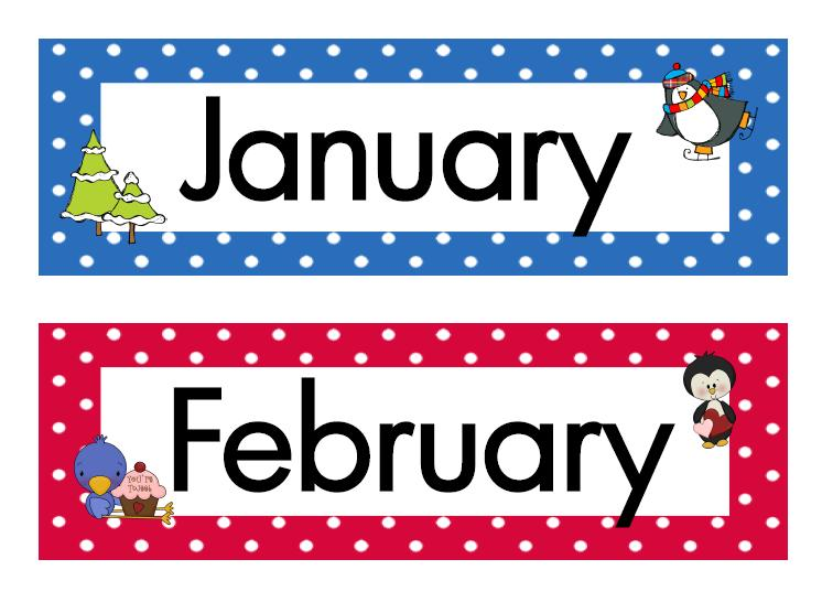 23 Months Of The Year Free Cl - Months Of The Year Clip Art