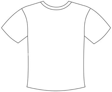 T Shirt Outline Clip Art