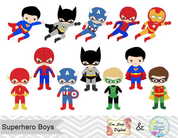 24 Little Boy Superheros Digital Clip Ar-24 Little Boy Superheros Digital Clip Art, Boys Superhero Clipart, Superhero Party, Super Hero Clip Art, Super Hero Boys Clipart, 0190-1