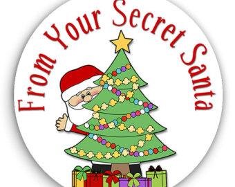 24 STICKERS Secret Santa .