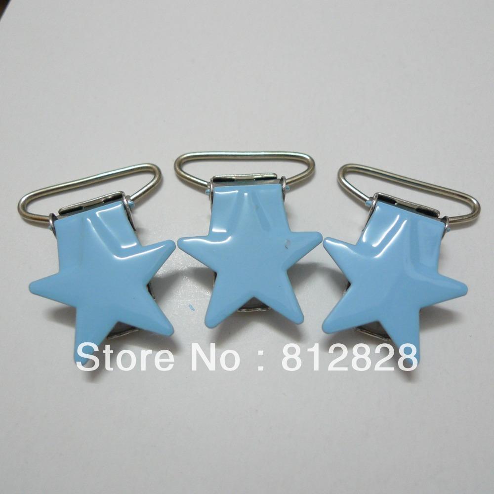 25pcs 1u0026#39;u0026#39; 25mm #11 Baby Blue Enamel Star Shape Mitten Clips(China