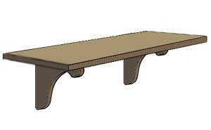 3:43 PM 11452 shelf.jpg - Shelf Clipart