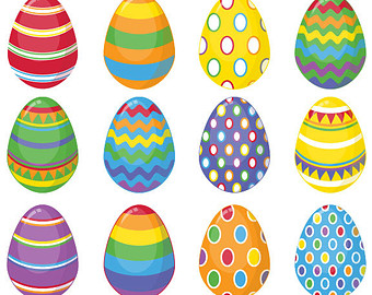 3 Easter Eggs Clipart - Free Easter Egg Clip Art
