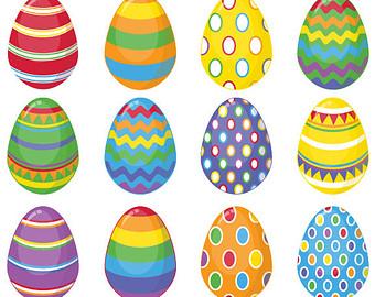 3 Easter Eggs Clipart