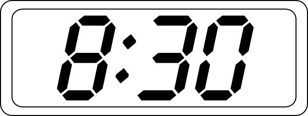 Digital Clock Clipart