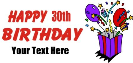 30th Birthday Banner,-30th birthday banner,-2