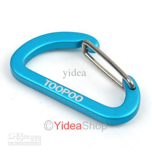 32pcs Blue Carabiners Clip Hook Keychain-32pcs Blue Carabiners Clip Hook Keychain wire-steel Hardware Rock Climbing For Quickdraws 160446-4