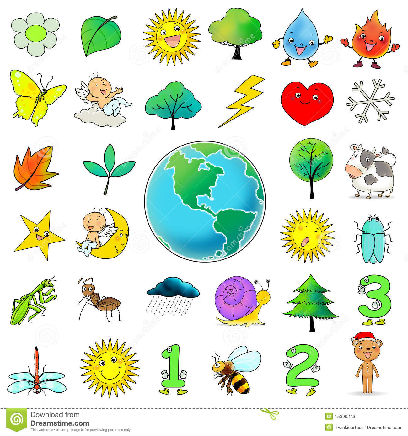 33 cartoon icon clip art collection