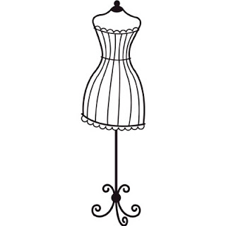 33  Dress Form Silhouette Clip .