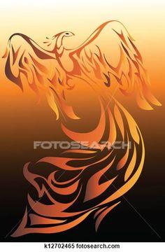 360 phoenix bird clip art . - Fotosearch Clipart