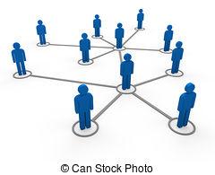 ... 3d blue network team - 3d blue social network community men.