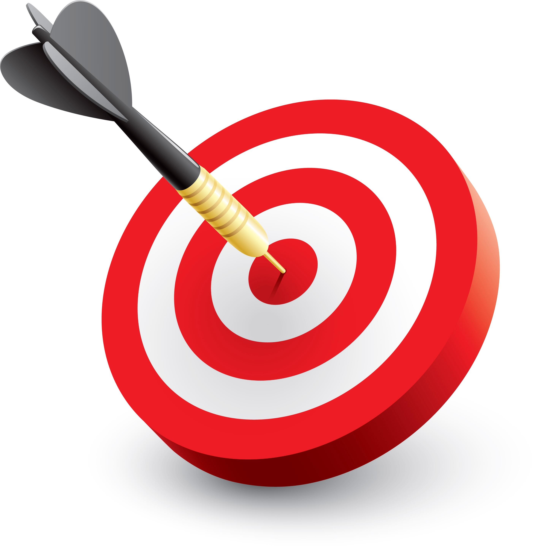 3D Bullseye Clipart