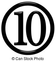 ... 3D Framed Number 10 - 3d framed numb-... 3D Framed Number 10 - 3d framed number 10 isolated in white-9