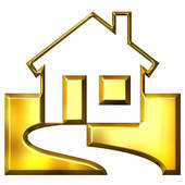 3d Golden Real Estate Clipart Graphic-3d Golden Real Estate Clipart Graphic-1