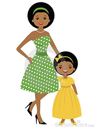 Mother Daughter Clipart