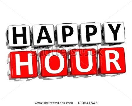 3D Happy Hour Button Click Here Block Te-3D Happy Hour Button Click Here Block Text over white background-1
