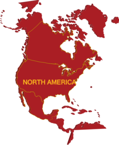 3d North America Map Clip Art