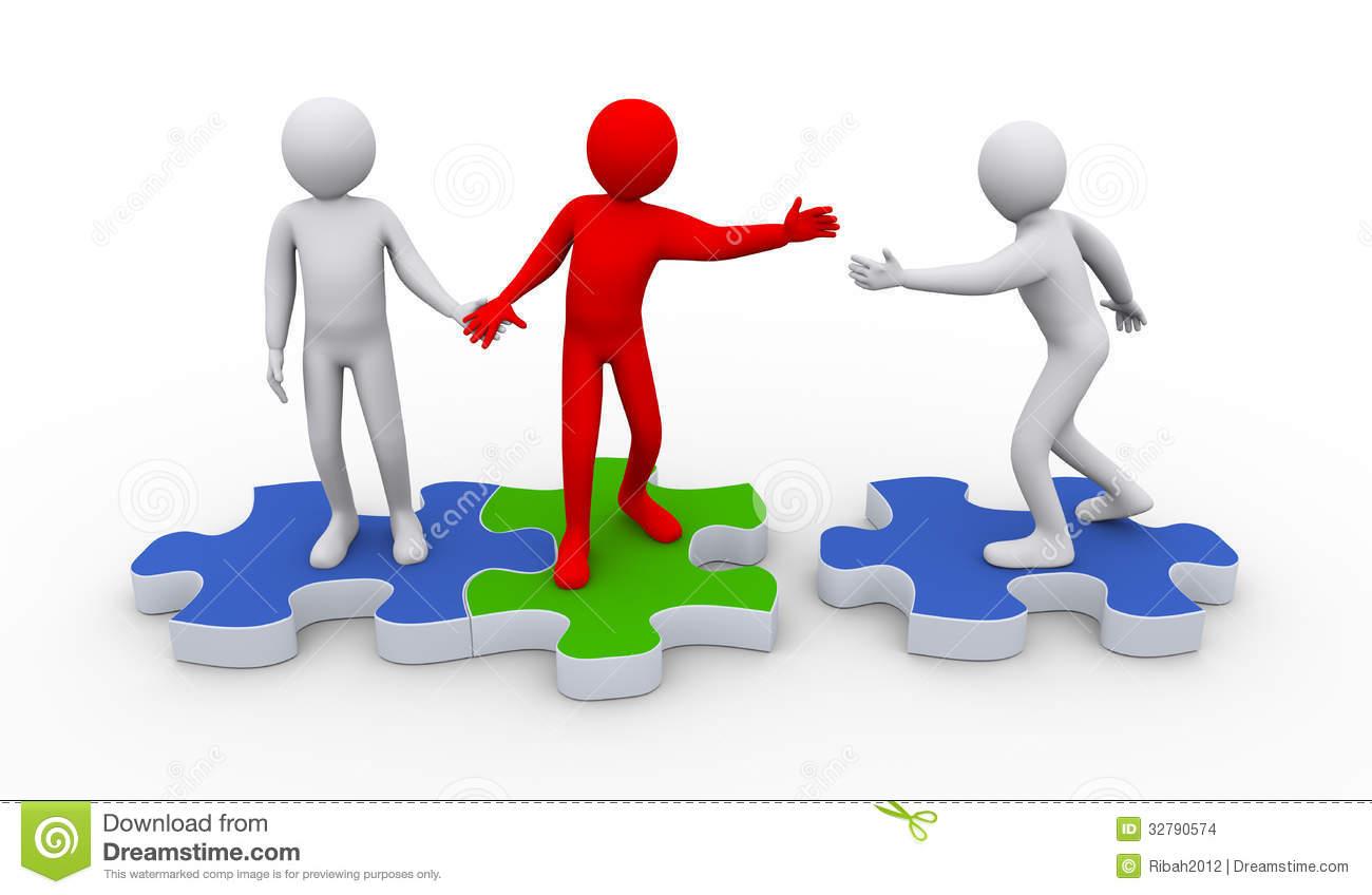 3d People Teamwork Clipart