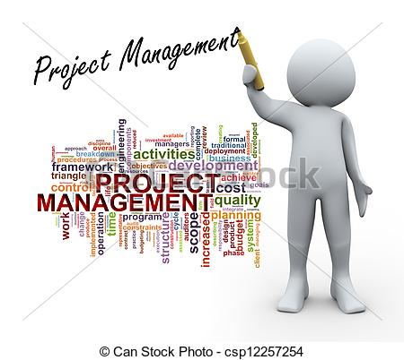 ... 3d Person And Project Management Wor-... 3d person and project management word tags - 3d Illustration.-1