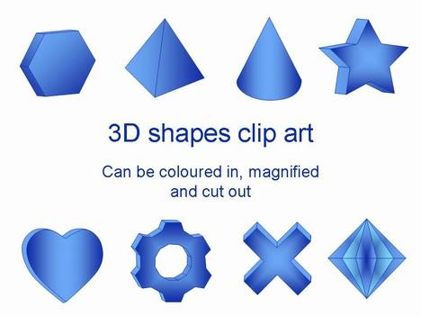3D Shapes Clip Art thumbnail-3D Shapes Clip Art thumbnail-19