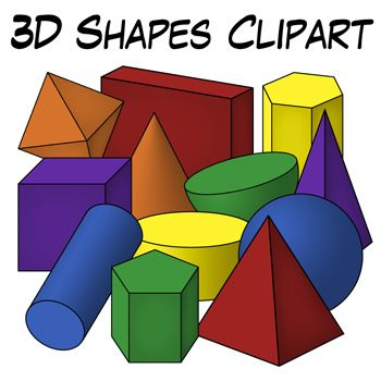 3d Shapes Clipart From Digital Classroom Clipart Includes Shaded