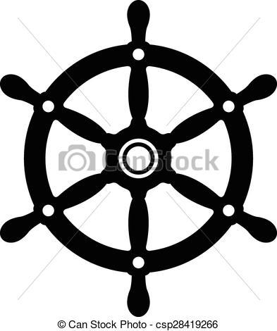 3d ship wheel isolated Clip A - Ships Wheel Clip Art