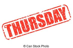 3D Thursday Block Text Clip A - Thursday Clip Art