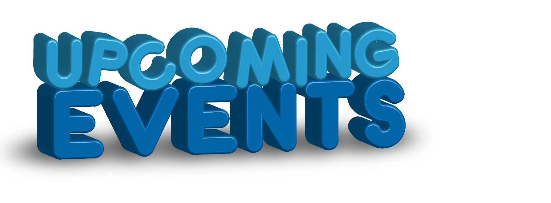 3D Upcoming Events Clipart
