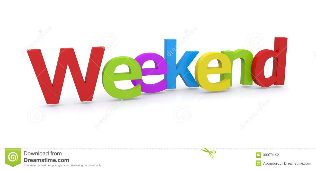 3d Word Weekend Stock Photography Image 30079142