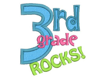 3rd Grade Rocks Clip Art 3rd Grade Rocks Applique