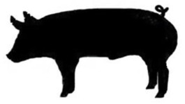 4-h Steer Silhouette Clipart