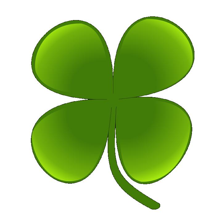 4 leaf clover clipart of shamrocks and four leaf clovers