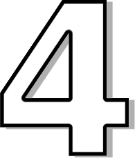 4 Number Image - Number 4 Clipart