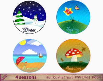 4 seasons clipart, winter spr - Seasonal Clip Art