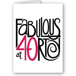 40th Birthday Clip Art