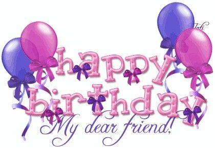 Birthday friend. Happy clipart clipartlook