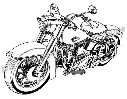 Harley davidson white. Motorcycle clipart clipartlook